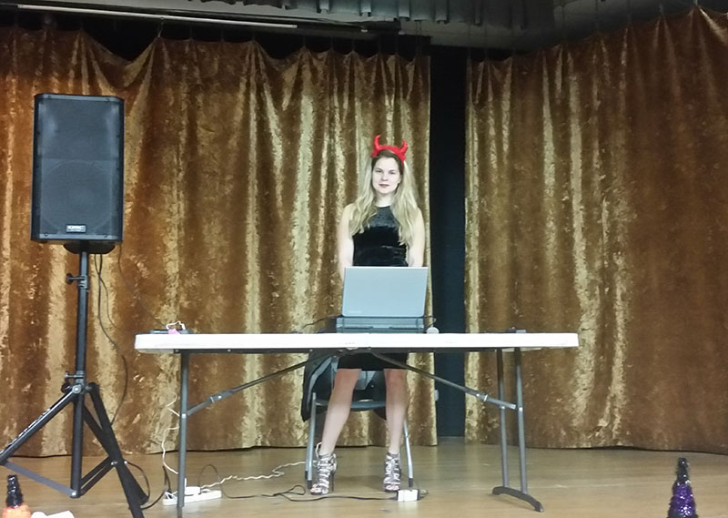 DJ Alisa, Halloween Party, 10-31-2015, Nostrand Kings Bay YM-YWHA, Brooklyn, NY