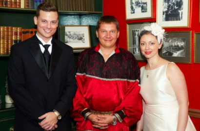 MC Misha with Dr. William & Mrs. Mariya Brendel