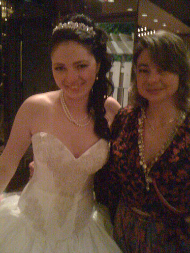 Russian-Tatar wedding, Grand Prospect Hall, Park Slope, Brooklyn, New York, DJ Elina with the Bride